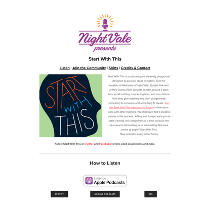 Start With This — Night Vale Presents
