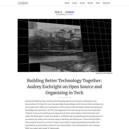 Building Better Technology Together: Audrey Eschright on Open Source and Organizing in Tech