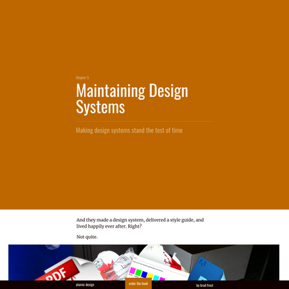 Maintaining Design Systems   Atomic Design by Brad Frost