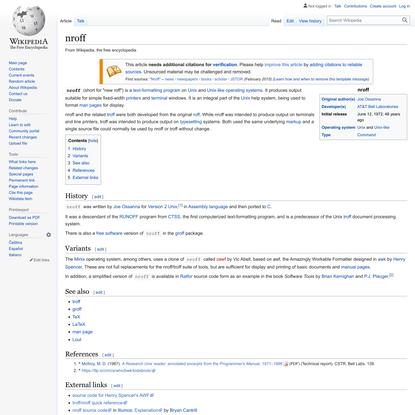 nroff - Wikipedia