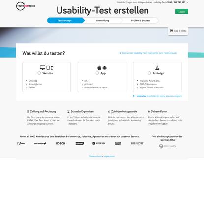 Usability-Test zur Optimierung Ihrer Webseite ab 98 € in 24 Std