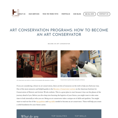 Art conservation programs: How to become an art conservator — B.R. Howard Art Conservation and Restoration