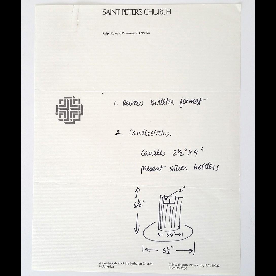 Massimo Vignelli, Saint Peter's Church (1977)