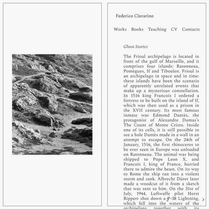 Ghost Stories — Federico Clavarino