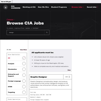 Browse CIA Jobs - CIA