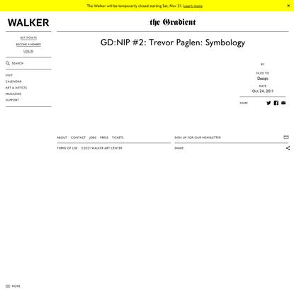 GD:NIP #2: Trevor Paglen: Symbology