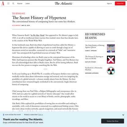 The Secret History of Hypertext