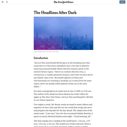 The Headlines After Dark