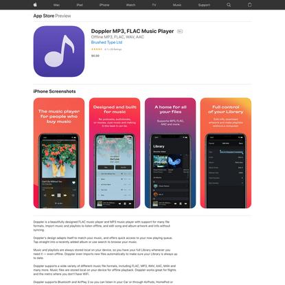 Doppler MP3, FLAC Music Player