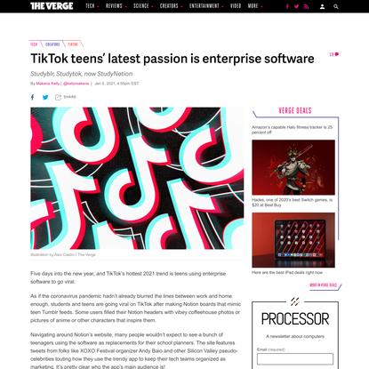 TikTok teens' latest passion is enterprise software