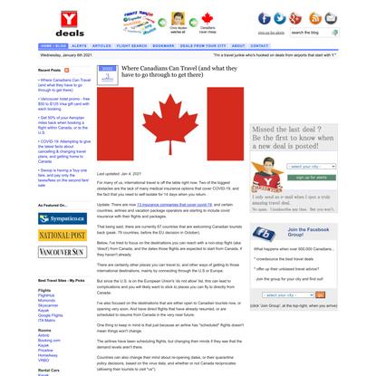 Ydeals.com :: Canada's Travel Deal Community
