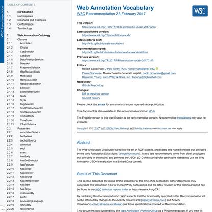 Web Annotation Vocabulary