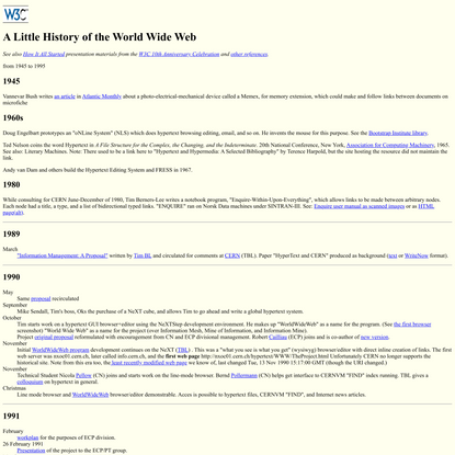 A Little History of the World Wide Web