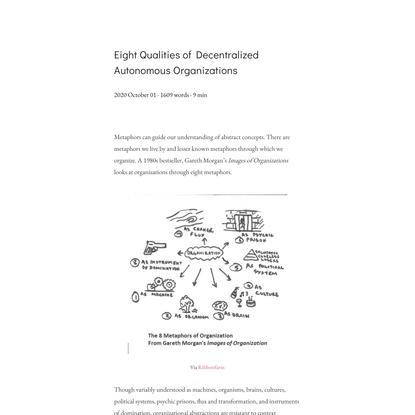 Eight Qualities of Decentralized Autonomous Organizations