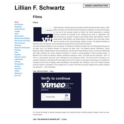 Films   Lillian F. Schwartz