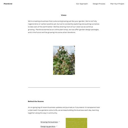 Our Vision — Plantkind
