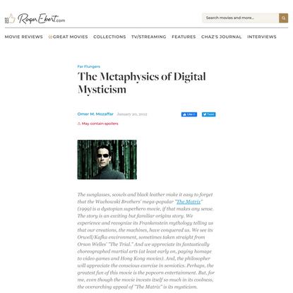The Metaphysics of Digital Mysticism   Far Flungers   Roger Ebert
