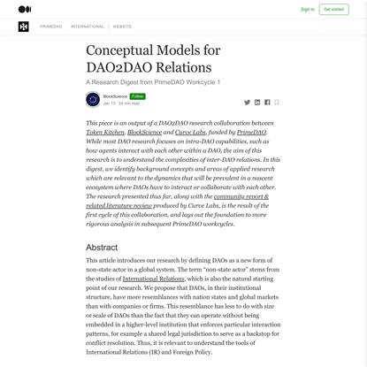 Conceptual Models for DAO2DAO Relations