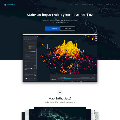Large-scale WebGL-powered Geospatial Data Visualization Tool