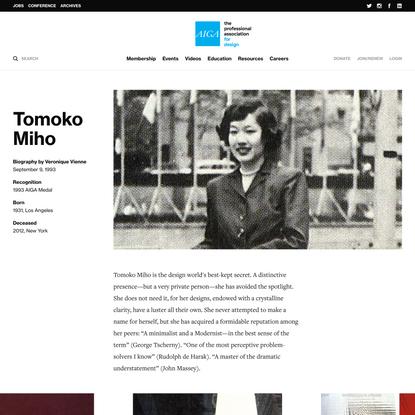 1993 AIGA Medalist: Tomoko Miho