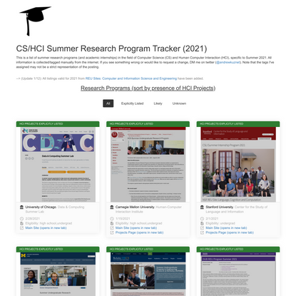 Andrew Kuznetsov | CS/HCI Research Programs Summer 2021