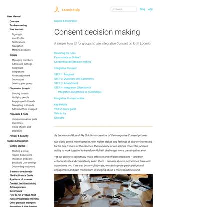 Consent decision making | Loomio Help
