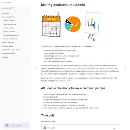 Making decisions · Loomio School