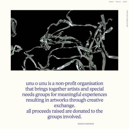 unu o unu – unity through art.