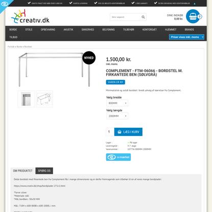 Complement - FTM-06066 - Bordstel m. firkantede ben (sølvgrå)