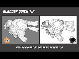 Quick Tip - Export SVG from Freestyle in Blender
