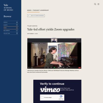 Yale-led effort yields Zoom upgrades