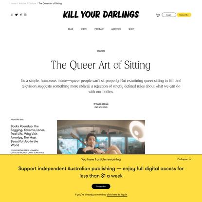 The Queer Art of Sitting