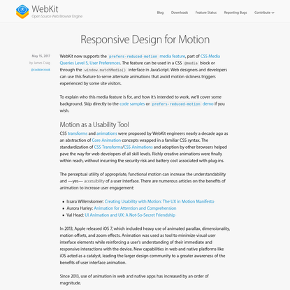 Responsive Design for Motion