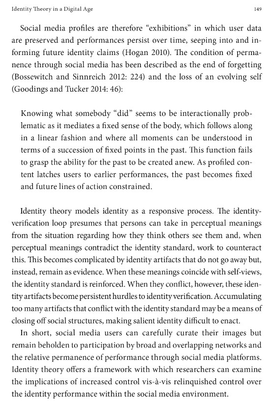 Excerpt: Identity Theory in a Digital Age