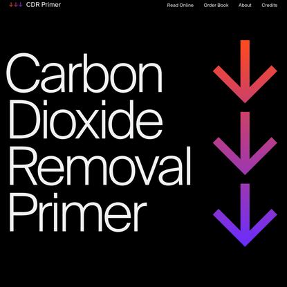 Carbon Dioxide Removal Primer