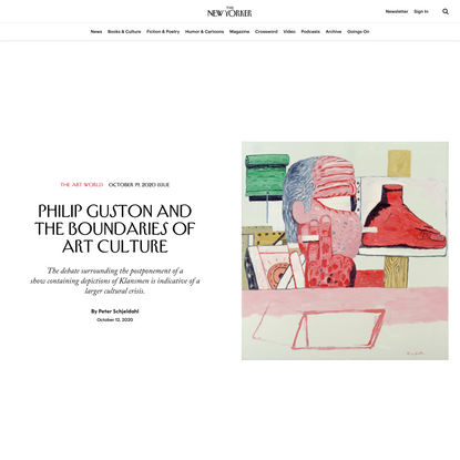Philip Guston and the Boundaries of Art Culture