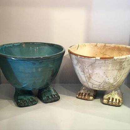 "Jamie Creel's Instagram profile post: ""Look what walked into @creelandgow Egyptian ceramics from Luxor. #EgyptianCeramics #c..."