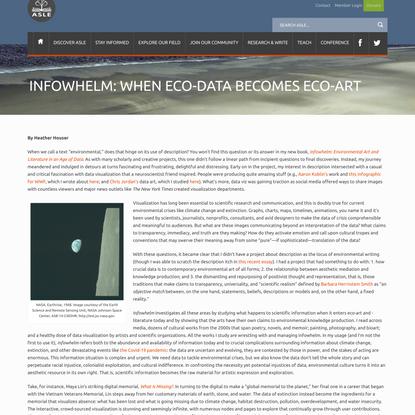 Infowhelm: When Eco-Data Becomes Eco-Art - ASLE