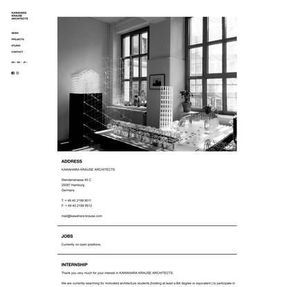 Contact – EN – KAWAHARA KRAUSE ARCHITECTS