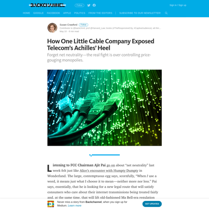 How One Little Cable Company Exposed Telecom's Achilles' Heel