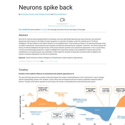 The revenge of the neurons