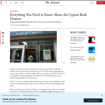 Everything You Need to Know About the Cyprus Bank Disaster
