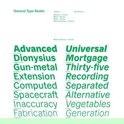 General Type Studio