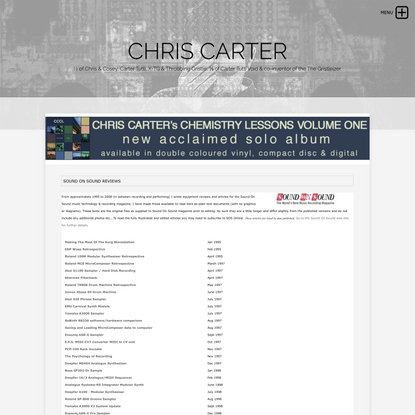 CHRIS CARTER - SOS Reviews