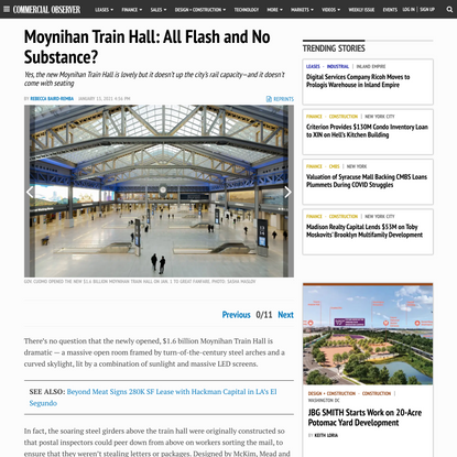 Moynihan Train Hall: All Flash and No Substance?