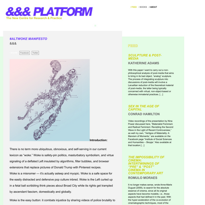 #AltWoke Manifesto - &&& Journal