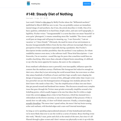 #148: Steady Diet of Nothing