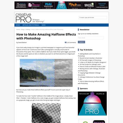 How to Make Amazing Halftone Effects with Photoshop - CreativePro.com