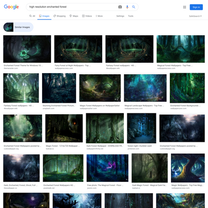 high resolution enchanted forest - Google Search