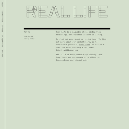 Screen Memories — Real Life